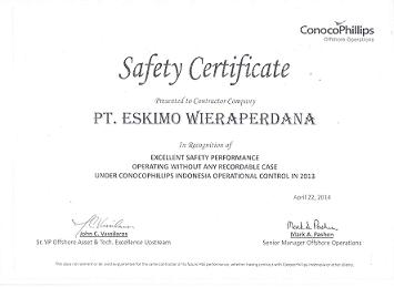 Safety Certificate